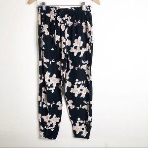 ANGIE Floral Lounge Harem Jogger Pants Women's M